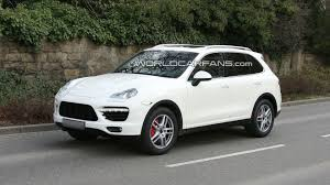 porsche cayenne white 2011 porsche cayenne spied in white with minimal disguise