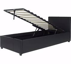 Ottoman Bed Black Lavendon Single Ottoman Bed Black Leather In Aston West