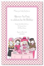 tea party birthday party invitations gallery invitation design ideas