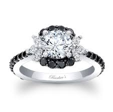 engagement rings with black diamonds black engagement ring 7930lbk black engagement