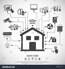 House Technology by Smart Home Flat Design Style Vector Stock Vector 616657919