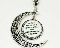grandmother granddaughter necklace granddaughter gift etsy
