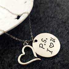 wholesale love necklace images Wholesale p s i love you pendant necklace jewelry gift 10pcs lot jpg