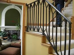 wrought iron step railing exterior outdoor railings for steps how