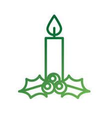 candle burning celebration decoration vector image