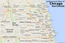 chicago map judgmental maps chicago northside il by an edgewater