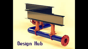 pipe design pipe assembly design with pipe support in solidwork 2016