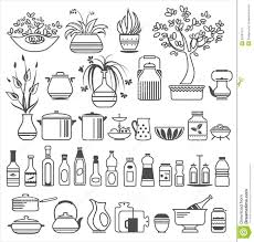 Kitchen Utensils And Tools by Kitchen Tools And Utensils Vector Illustration Stock Photo