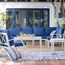 Conversation Patio Furniture Sets - belham living brighton outdoor wood conversation sectional set