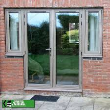 French Doors With Opening Sidelights by Residence 7 French Doors By Everglade Cwg R9 Silvered Oak