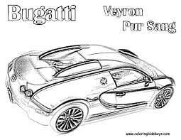 bugatti coloring pages veyron