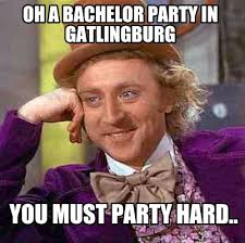 Party Hard Meme - meme creator oh a bachelor party in gatlingburg you must party