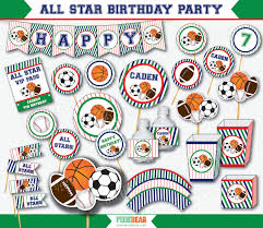 Sports Decorations Sports Party Sports Birthday Sports First Birthday All