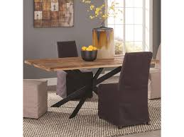 coaster galloway dining table in rustic natural wood finish dunk