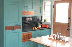painted kitchen cabinet ideas freshome collect this idea teal blue kitchen