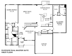 House Plans With Dual Master Suites by Riverside Dual Master Suite House Plan Schumacher Homes