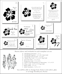 Blank Wedding Invitation Kits Beach Wedding Invitation Kit 3 Tropical Wedding Invitations