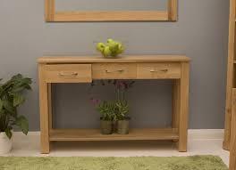 modern wooden console tables conran solid oak modern furniture console hallway hall table ebay