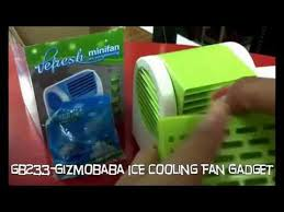fan that uses ice to cool gb233 gizmobaba ice cooler fan gadget youtube