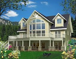 house plans with window walls mountain house plan with wrap around deck and window wall