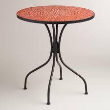 outdoor mosaic bistro table poinciana orange cadiz bistro table world market