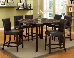 bonded leather marble top pompei 5 piece counter height dining