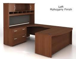 U Shaped Home Office Desk Bush Series C U Shaped Executive Office Desk With Hutch
