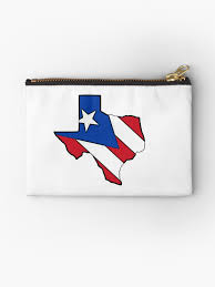 Puerto Rico Flag Texas Outline Puerto Rico Flag