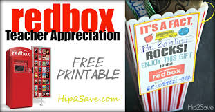 appreciation gift idea gift a redbox code free printable
