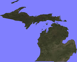 A Map Of Michigan by Terrain Maps Google Earth Library