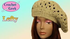 redheart pattern lw2741 how to make crochet slouch hat left hand youtube