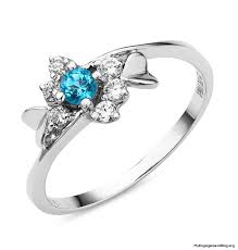 blue diamond wedding rings engagement wedding rings