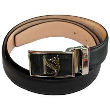 negative ion dress belt in genuine leather with buckle type b