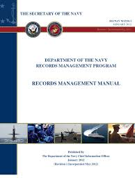 department of the navy records management program records