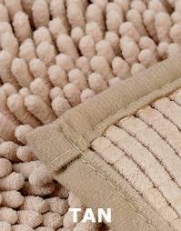 Shaggy Bathroom Rugs Chenille Microfiber Bath Mat