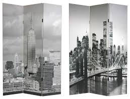 6 u0027 tall double sided new york scenes room divider industrial
