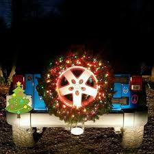 lighted christmas wreath spare jeep tire lighted christmas wreath preppy vehicles