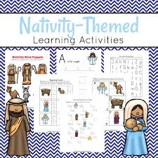 nativity themed preschool learning pack homeschool preschool