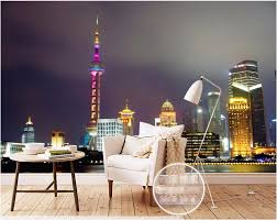 popular wall murals city buy cheap wall murals city lots from 3d room wallpaper custom mural shanghai oriental pearl tower city decoration painting 3d wall murals wallpaper