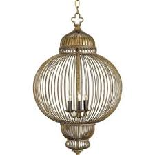 Chandelie Decor Unique Cage Chandelier For Your Home Lighting Idea