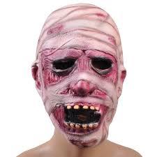 Realistic Halloween Costumes Halloween Mask Mummy Bandages Mask Creepy Latex Realistic Crazy