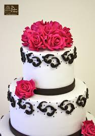 pink and brown wedding cake ideas chocolate roses wedding cake