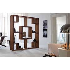 elegant white wooden book case with chinese room divider and loft