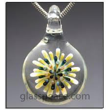art glass necklace pendant images Dot implosion glass pendant focal bead necklace 5664 art glass jpg