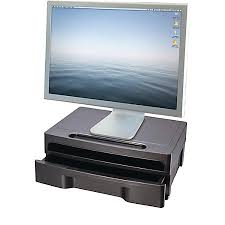adjustable monitor stand for desk monitor risers and stands at office depot officemax