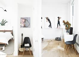 interior design loft apartment bedroom with guitar stands shady