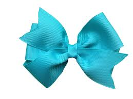 hair bow 4 inch turquoise hair bow turquoise bow hair bows