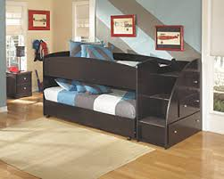 embrace loft bed with caster and right steps ashley furniture