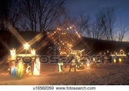 stock photograph of postcard decorations nativity
