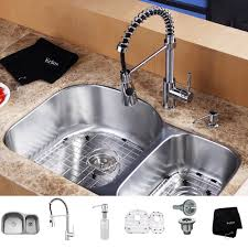 iron best kitchen sink faucets wide spread two handle pull out